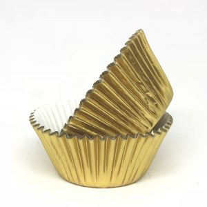 Gold Metallic Cup Cake Cases (60 pack)