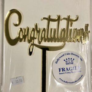 "Gold ""Congratulations"" Topper"