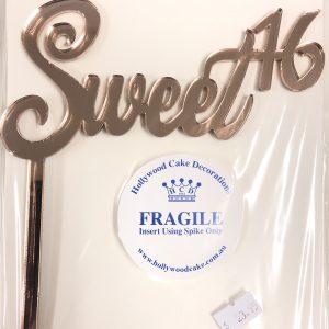 """Sweet 16"" Acrylic topper"